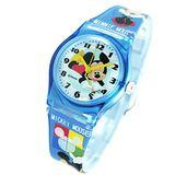 Disney寫字米奇圖案藍色膠帶卡通錶
