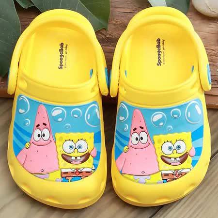 【童鞋城堡】海綿寶寶與派大星超輕布希花園鞋{台灣製造}SG1279