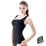 GLANZ 格藍絲  280丹精品蕾絲V型美背托胸纖腹勻體背心