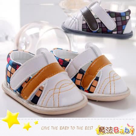 (購物車)魔法Baby~魔術方塊格寶寶鞋~黃.灰共兩色款~sh1856 (13/14/15)