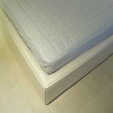 《SHINEE》 雙人純棉床包式包覆防水保潔墊(灰藍)