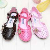 【童鞋城堡】真珠美人魚典雅蝴蝶結女童涼鞋{台灣製造}PI4261