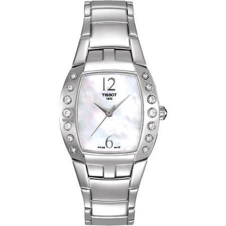 TISSOT Femini-T 都會儷人真鑽腕錶(T0533106111200)
