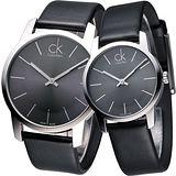 cK City 極簡知性風對錶-黑