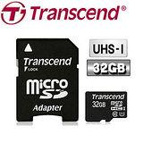 創見 32GB microSDHC UHS-1 Class10 記憶卡(附轉卡)
