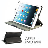 APPLE iPAD mini 平板電腦熱定型皮套 保護套 荔枝紋可多角度斜立