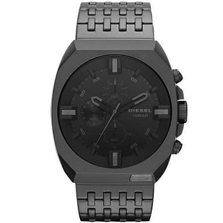【好物分享】gohappy 線上快樂購DIESEL 都會日系潮男時尚計時腕錶-IP黑 DZ4263效果快樂 happy go