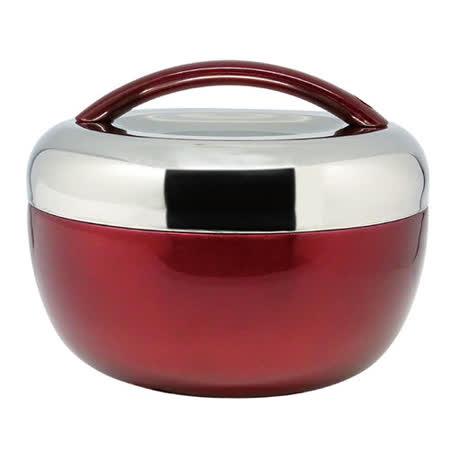 鍋霸不鏽鋼雙層保溫提鍋時尚紅1300ml