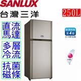 台灣三洋 SANLUX 250L雙門電冰箱 SR-A250B