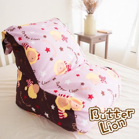 【奶油獅】抬腿縮腹搖滾星星懶骨頭沙發椅(淡紫咖啡)