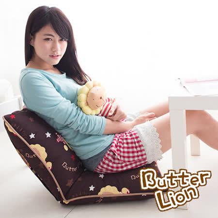 【奶油獅】正版授權-搖滾星星胖胖和室椅-咖啡