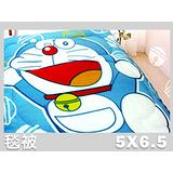 哆啦A夢.快樂鈴鐺.雙面花色.保暖毛毯被.全程臺灣製造