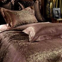 《SHINEE》 玫瑰莊園 雙人高級緹花精梳棉四件式涼被床包組