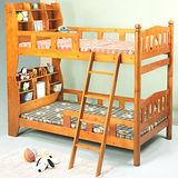 《BuyJM》童心3.5呎單人加大書架型實木雙層床