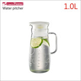 CafeDeTiamo 玻璃水壺(有把)【白色幾何圖案】1000ml HG2285