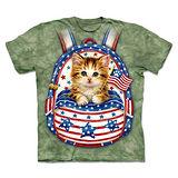 『摩達客』(預購)美國進口【The Mountain】自然純棉系列 背包愛國貓 設計T恤