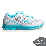 【ERKE爾克】女性運動常規慢跑鞋-正白/天空藍(歐碼:35-40)