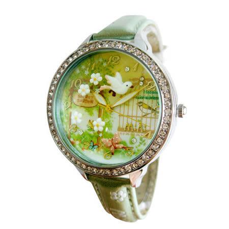 【韓國MINI】手工軟陶創意手錶-3D神秘花園