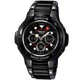 CASIO BABY-G 海軍風 運動腕錶BGA-124-1A全黑色