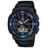 CASIO 戶外運動全新指針數位雙顯錶SGW-500系列(藍)