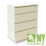 最愛傢俱 丹麥風情 白橡洗白色 4斗櫃