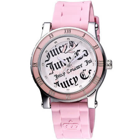 Juicy Couture 甜心教主時尚腕錶-粉 J1900419