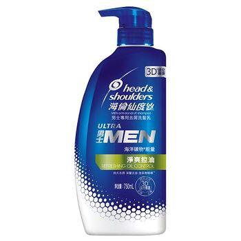 海倫仙度絲男士去屑洗髮乳-活力去油勁爽750ml
