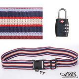 ABS愛貝斯 台灣製造繽紛旅行箱束帶及TSA海關鎖旅遊安全配件組(99-018束帶A12)
