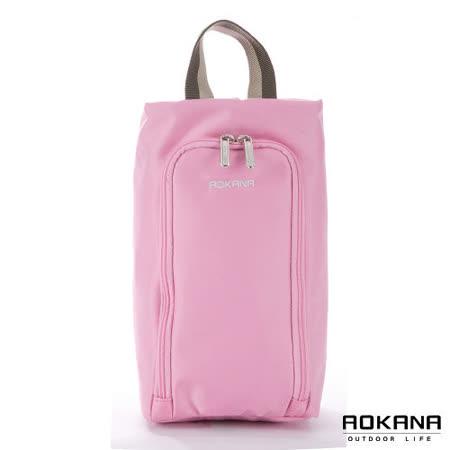 AOKANA奧卡納 MIT台灣製 旅行鞋袋 便攜收纳包(甜心粉)02-027