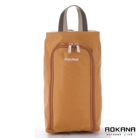 AOKANA奧卡納 MIT台灣製 旅行鞋袋 便攜收纳包(焦糖棕)02-027