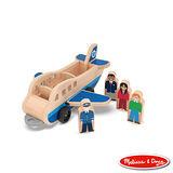 美國瑪莉莎 Melissa & Doug 小人國系列 - 木製機場行李拖車組