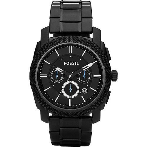 FOSSIL 領航者三眼計時腕錶~IP黑 FS4552
