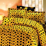 《KOSNEY 黃海情感 》加大100%活性精梳棉六件式床罩組台灣製
