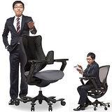 iPole3 優質進口牛皮人體工學椅(個性黑)