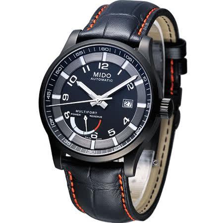 MIDO Multifort 動力儲存 機械錶M0054243605222黑皮