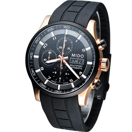 MIDO Multifort 計時機械腕錶M0056143705709膠帶款