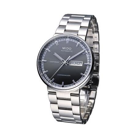 MIDO Commander II 香榭系列機械腕錶M0144301106100深灰色