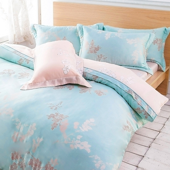 Betrise《碧卉飄然》加大100%天絲TENCEL四件式兩用被床包組