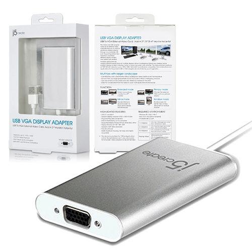 Kaijet  j5create-JUA210/USB 2.0 外接式顯示卡(VGA)