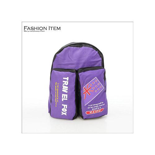 WAIPU 超輕量戶外休閒後背包 背包 書包^(紫^)601