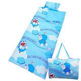 【享夢城堡】哆啦A夢飛飛樂系列-舖棉兩用兒童睡袋(藍)