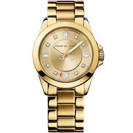 Juicy Couture Stella 甜蜜佳人晶鑽腕錶-金 J1901035