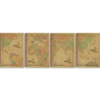 35K牛皮線圈筆記/橫線(NB-18110-2)15.4*21.2cm