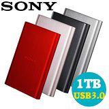 SONY HD-E1 1TB USB3.0 2.5吋髮絲紋行動硬碟 -加送硬碟絨布套