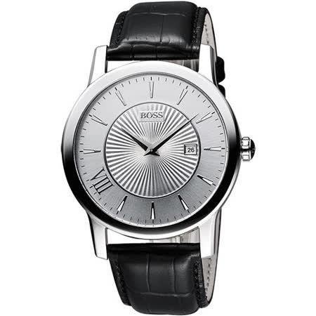 Hugo Boss 德式羅馬都會石英腕錶-銀/黑 H1512839