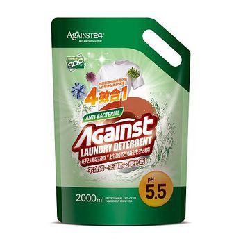 快潔適抗菌防滿洗衣精補充包2000ml