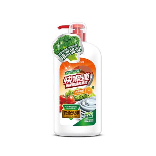 快潔適蔬果碗盤洗潔精~天然甜橙1000gm
