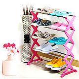 (預購)日式DIY不鏽鋼五層收納組合鞋架