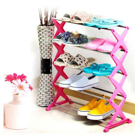 日式DIY不鏽鋼五層收納組合鞋架
