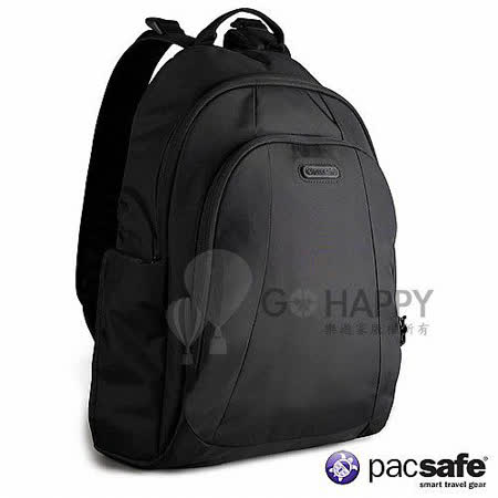Pacsafe 13L METROSAFE350GII防盜後背包(黑色)
